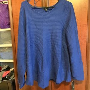 NWT! Blue Sweater Alfani Brand 3X